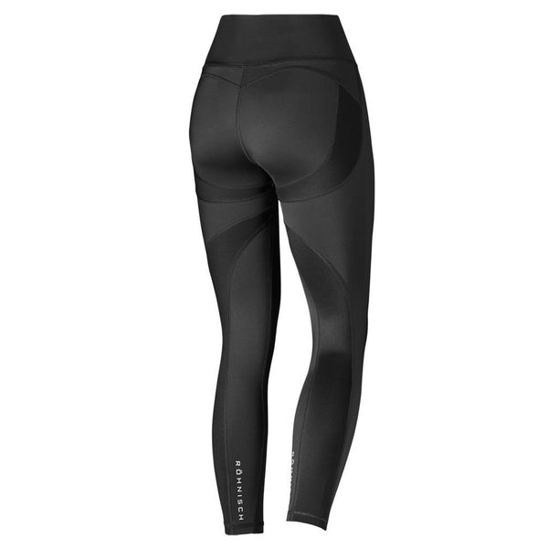 Röhnisch Shape Neva Long Tights Compression Legging Black Mallas de Compresión Negro Efecto Mojado