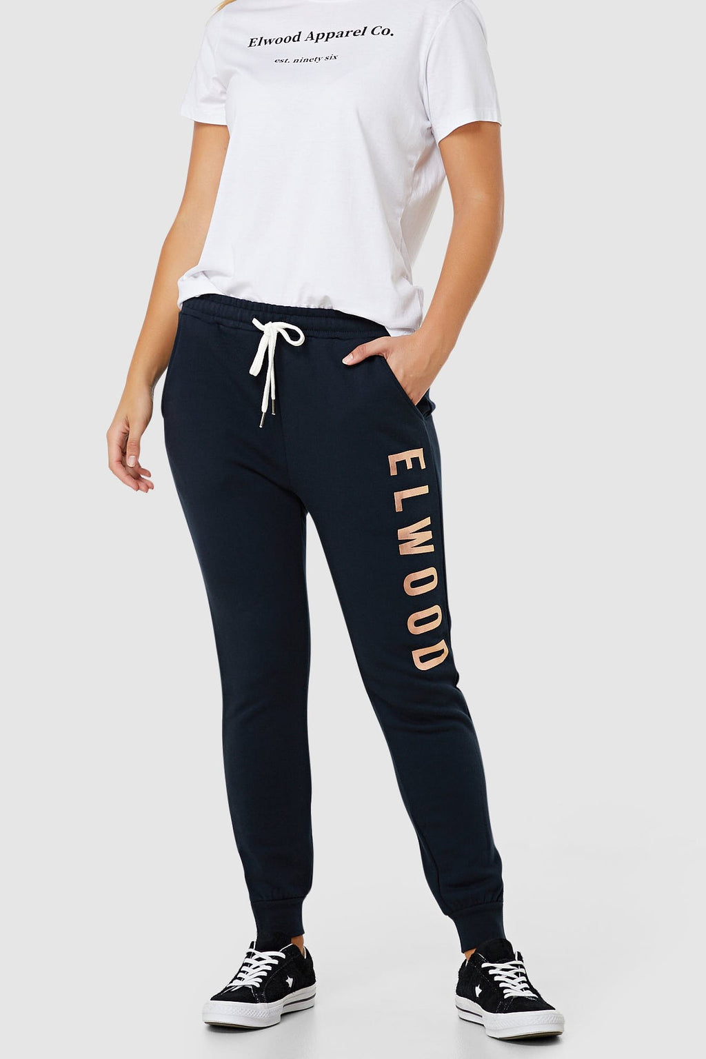 Huff n Puff Track Pants - Navy & Gold