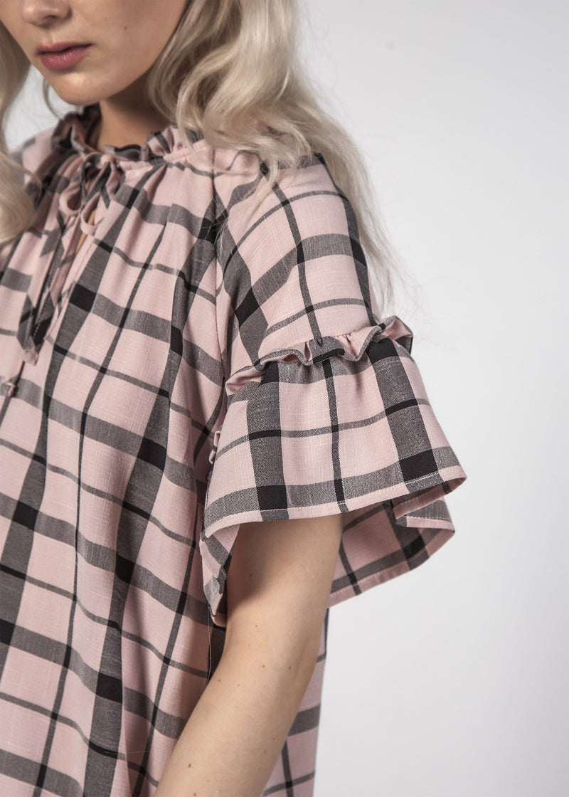 Evie Dress - Pastel Check