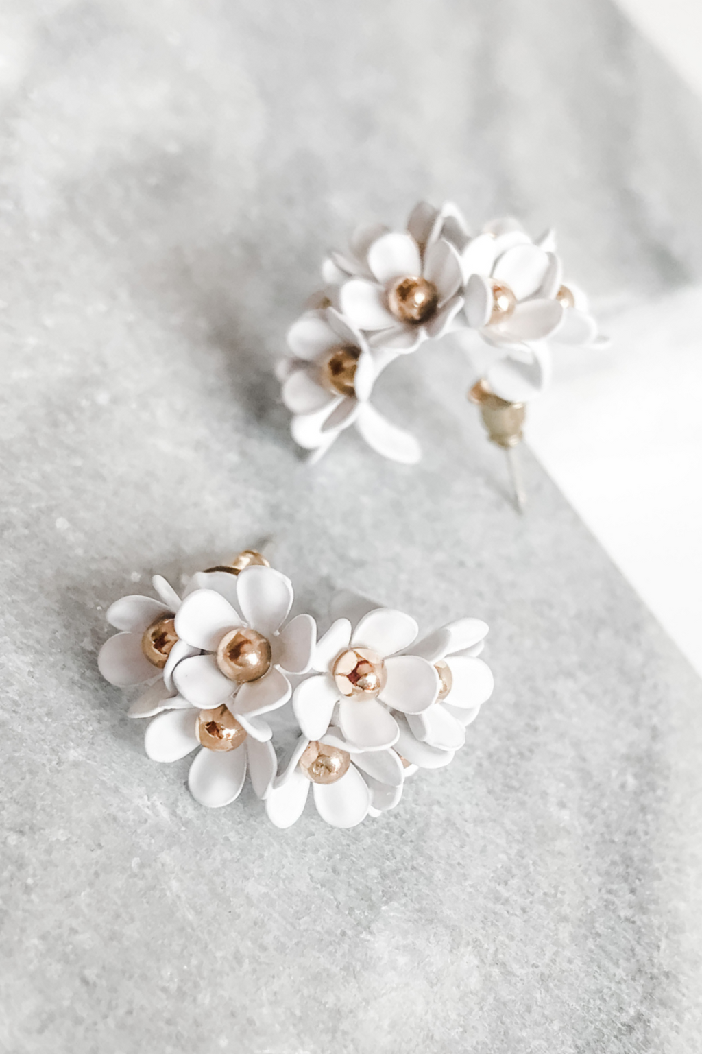 Daisy Hoops Earrings