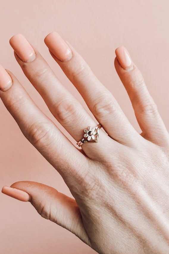 Chevron Stacker Ring