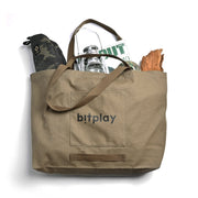 Oversize Tote Bag - Olive Green