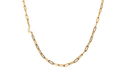VALDA MEDIUM INITIAL Chain - Gold