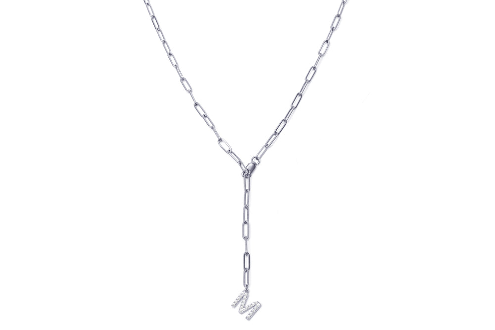 YPSILO INITIAL CHARM Chain - Silber