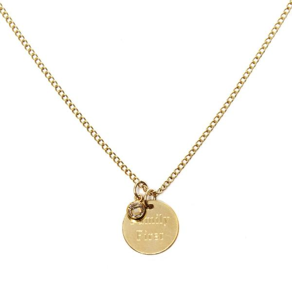 CARA Sparkle  - THE LOVE TAG NECKLACE - Kette mit 2 gravierbaren Medaillon Anhängern -  Gold - CLASSYANDFABULOUS JEWELRY
