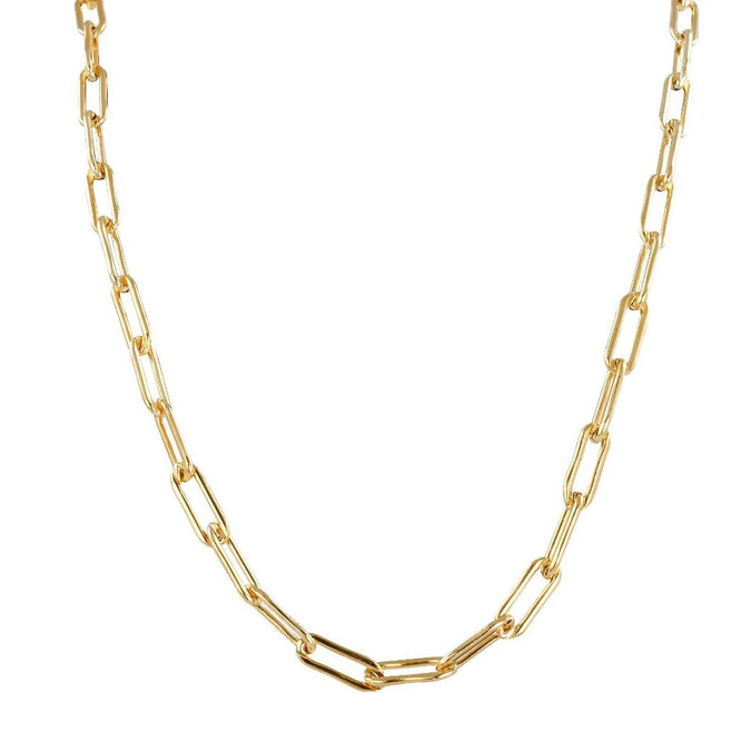 VALDA  Jumbo Long Link Chain - Grobe Gliederkette -  Gold - CLASSYANDFABULOUS JEWELRY