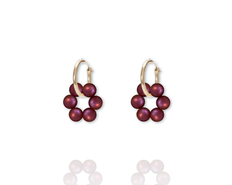 ABSOLUT AZALEA Earring - Gold / Mulberry Pink