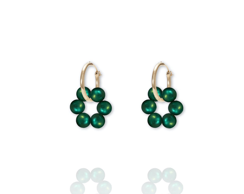 ABSOLUT AZALEA Earring - Gold / Dark Green