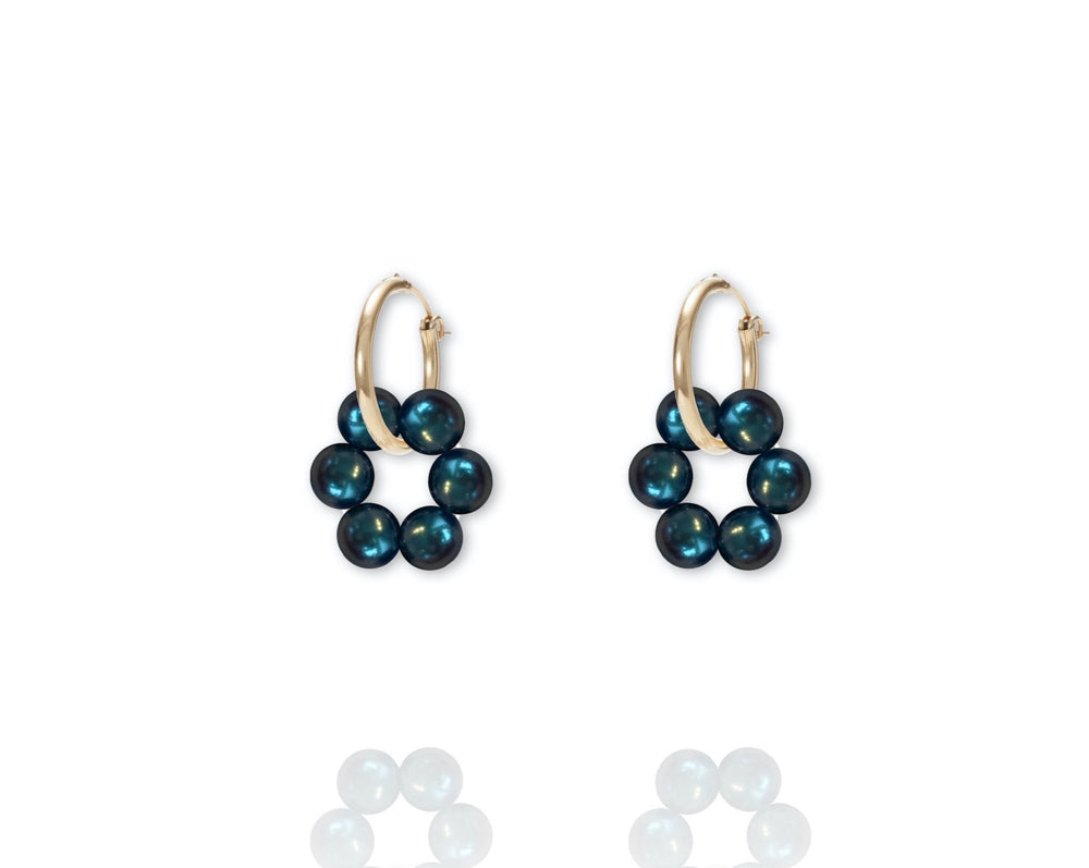 ABSOLUT AZALEA Earring - Gold / Thaitian Green