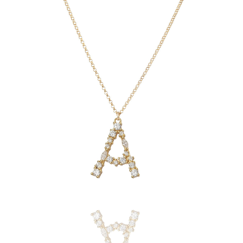 A - Buchstaben Kette - Letter Chain - Gold - CLASSYANDFABULOUS JEWELRY