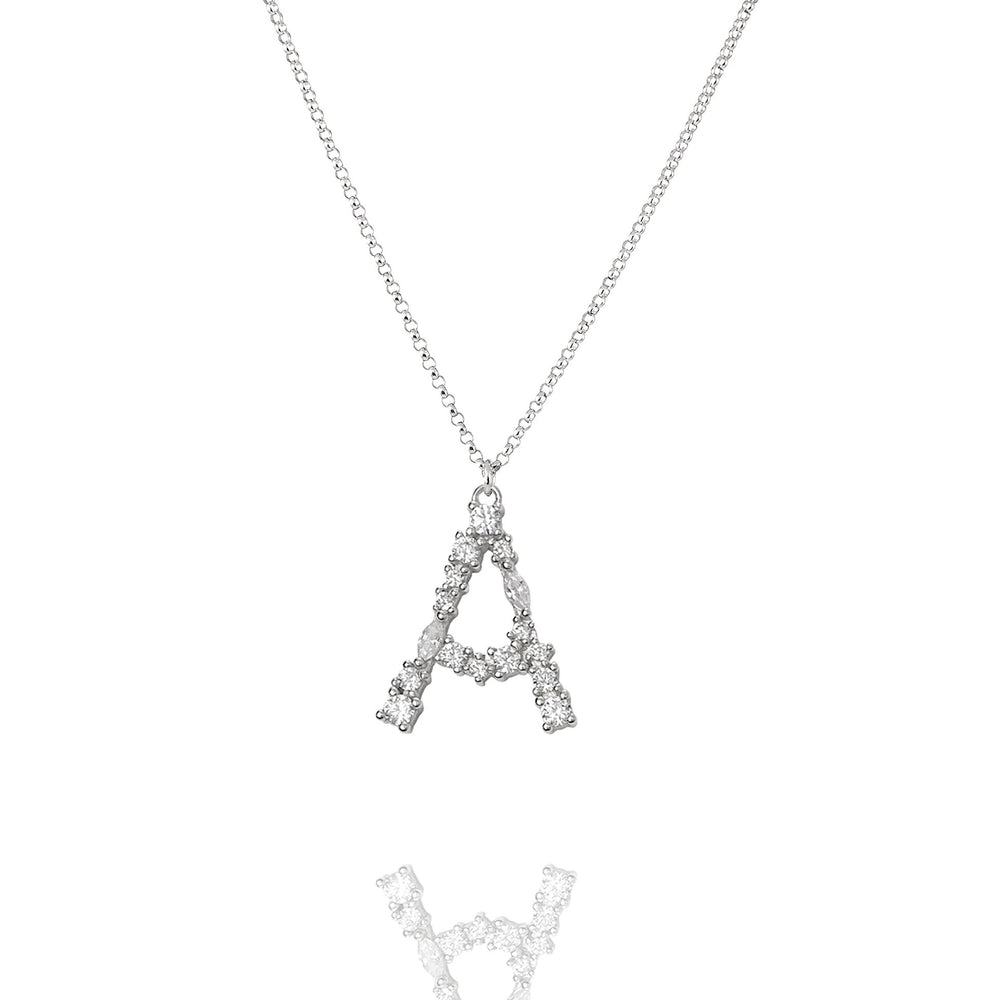 A - Buchstaben Kette - Letter Chain - Silber - CLASSYANDFABULOUS JEWELRY