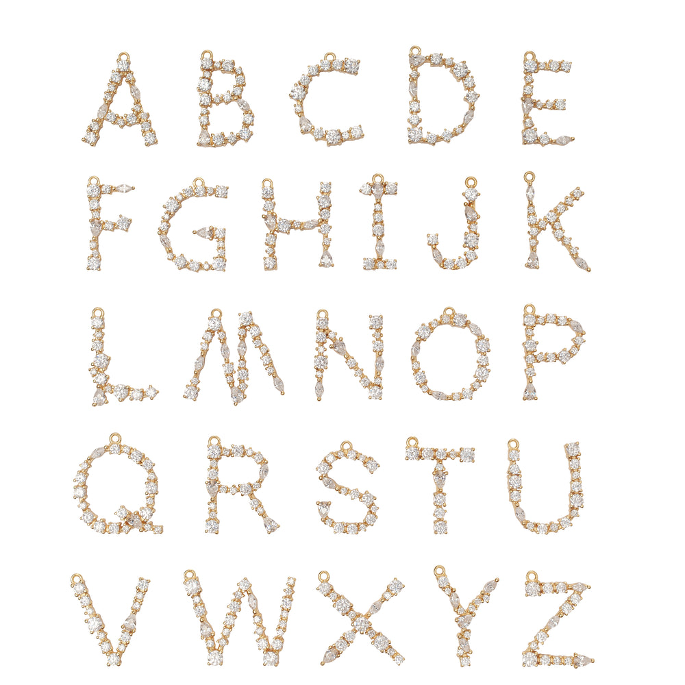 H- Buchstaben Kette - Letter Chain - Gold - CLASSYANDFABULOUS JEWELRY