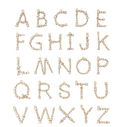 W - Buchstaben Kette - Letter Chain - Gold - SOLD OUT - CLASSYANDFABULOUS JEWELRY