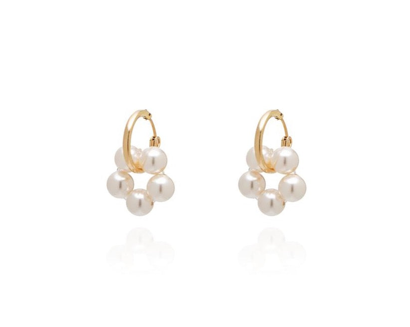 ABSOLUT AZALEA Mini Pearl Earring - Gold/ Pearl