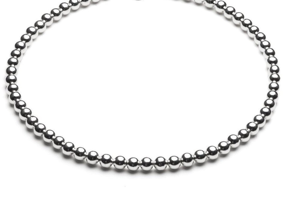 Beaded Necklace  - Kugelkette - 7mm -  Silber - CLASSYANDFABULOUS JEWELRY