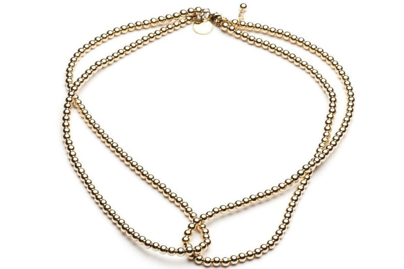 Loop it Twice  - Kugelkette 2in1 -   Gold - CLASSYANDFABULOUS JEWELRY