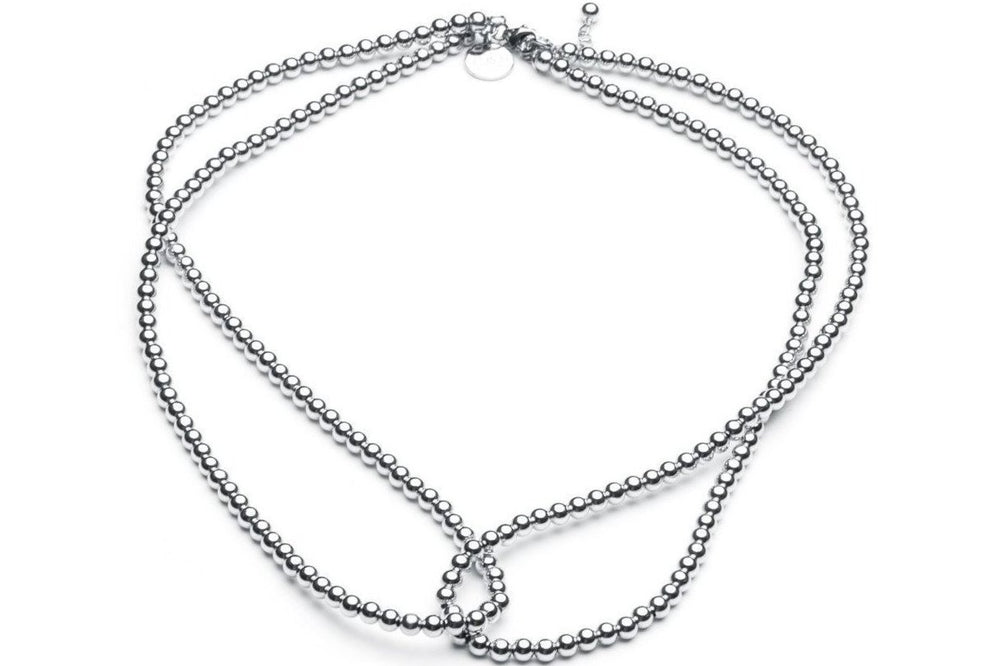 Loop it Twice  - Kugelkette 2in1 -   Silber - CLASSYANDFABULOUS JEWELRY