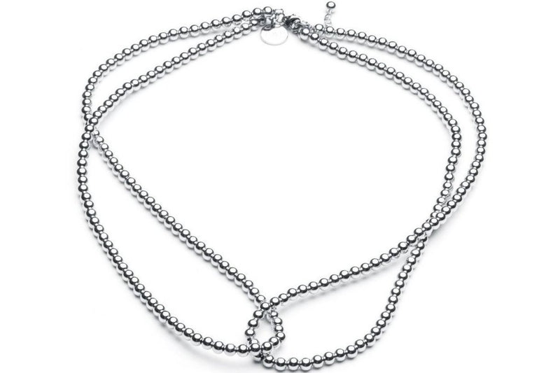 Loop it Twice Necklace • Silver - CLASSYANDFABULOUS JEWELRY