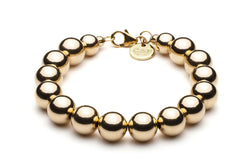 Beaded Bracelet BIG  - Kugelarmband, 10mm -   Gold - CLASSYANDFABULOUS JEWELRY