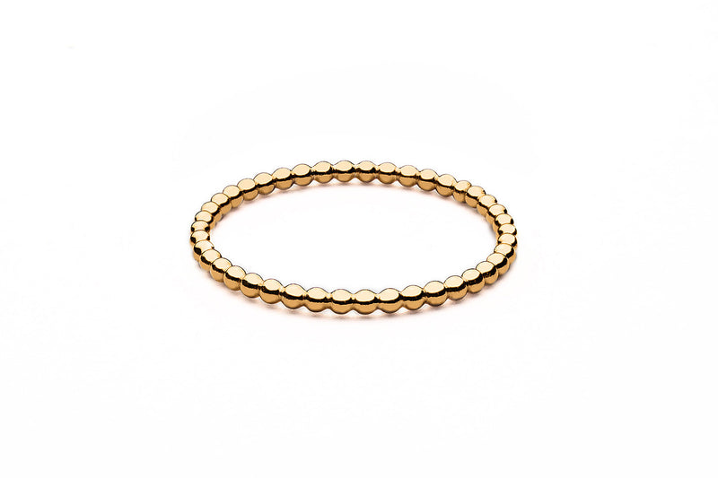 Beaded Ring  - Kugelring - Mini - Gold