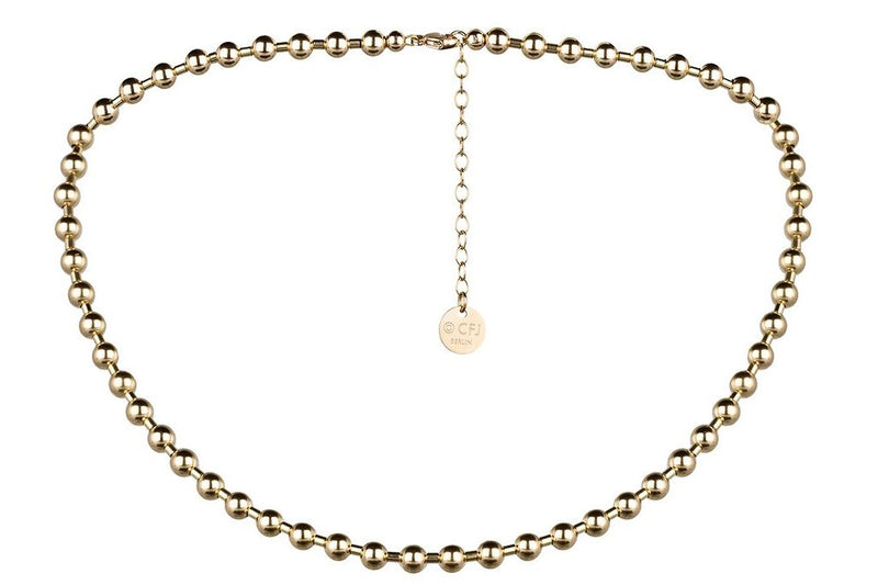 NYC Necklace  - Moderne Kugelkette - 5mm -  Gold