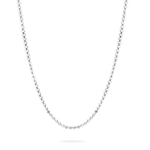 NEVE NECKLACE  - Multi Pailletten Kette -  Silber