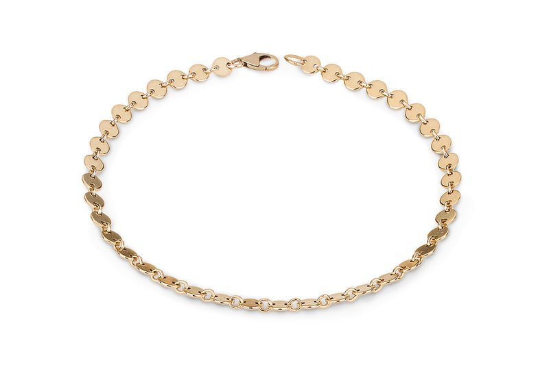 NEVE Anklet  - Pailletten Fusskette -  Gold - CLASSYANDFABULOUS JEWELRY