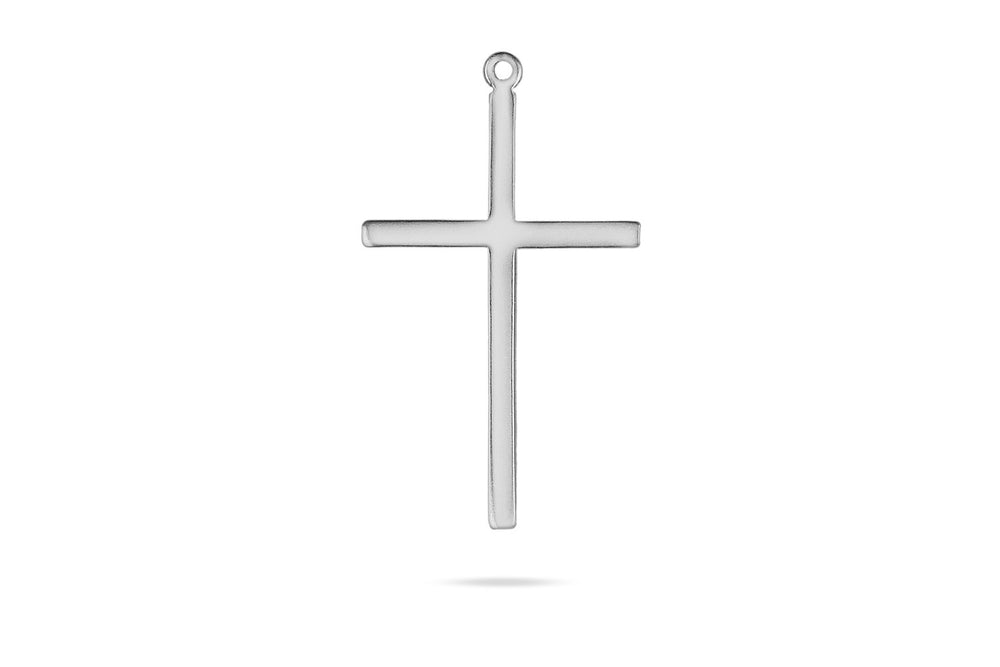 Charm - PLAIN CROSS - Silber / Gold / Roségold - CLASSYANDFABULOUS JEWELRY