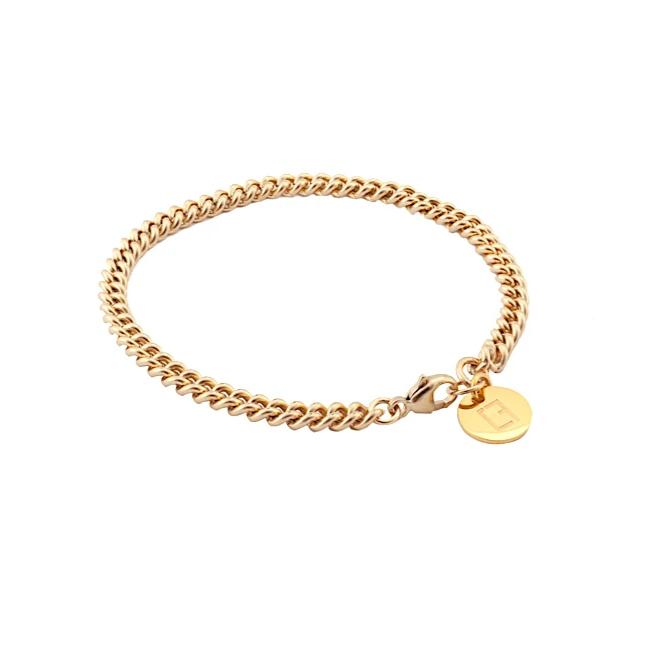 Curb Chain Bracelet  - Gold - CLASSYANDFABULOUS JEWELRY