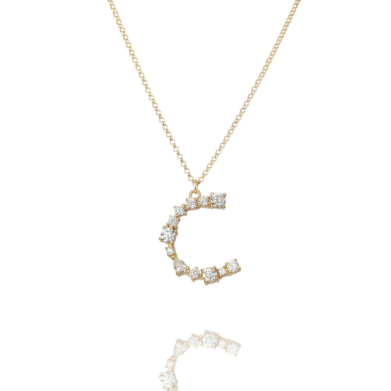 C - Buchstaben Kette - Letter Chain - Gold - CLASSYANDFABULOUS JEWELRY