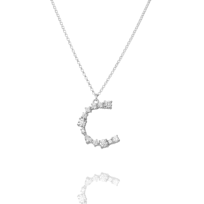 C - Buchstaben Kette - Letter Chain - Silber - CLASSYANDFABULOUS JEWELRY
