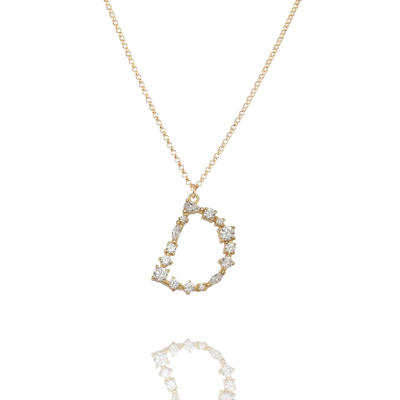 D- Buchstaben Kette - Letter Chain - Gold - CLASSYANDFABULOUS JEWELRY