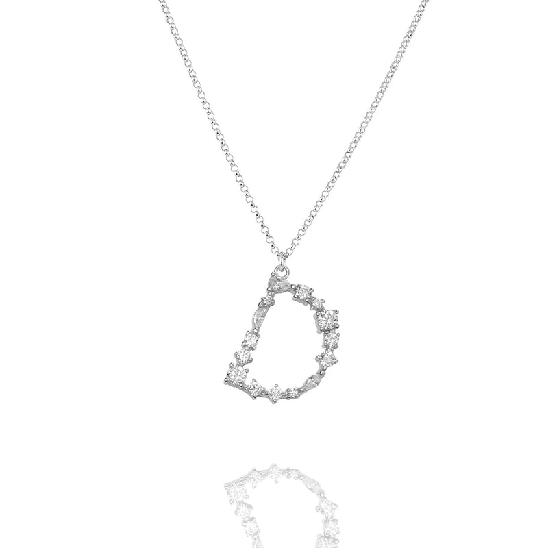 D - Buchstaben Kette - Letter Chain - Silber - CLASSYANDFABULOUS JEWELRY