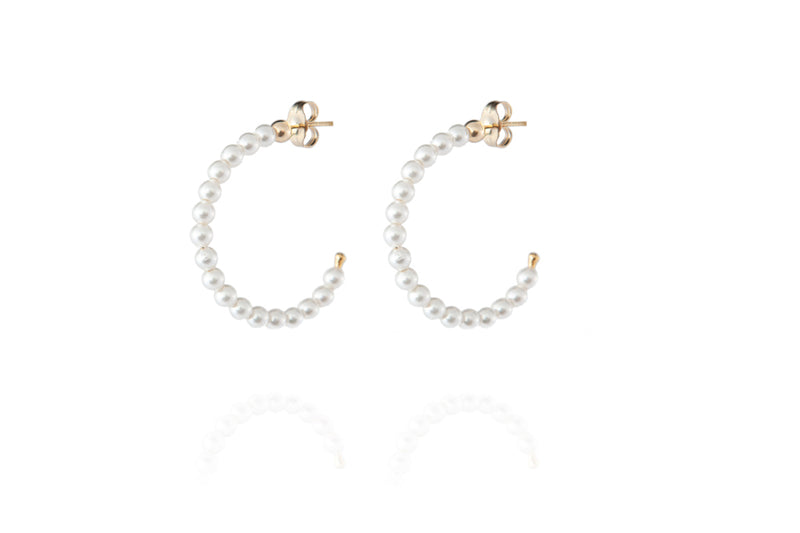 ELIN Pearl Earrings Maxi - Ohrring mit Perlen - Gold - CLASSYANDFABULOUS JEWELRY