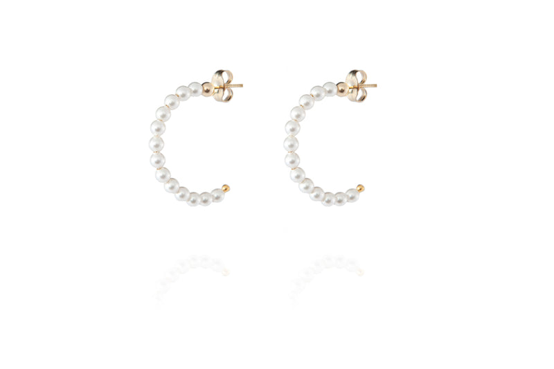 ELIN Pearl Earrings Mini - Ohrring mit Perlen - Gold - CLASSYANDFABULOUS JEWELRY