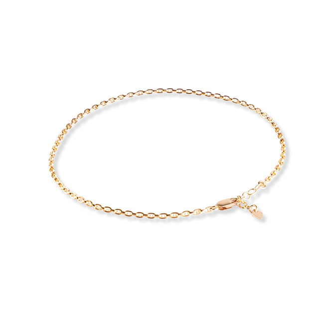 EVELIN MEDIUM ROUND Anklet - Cooles Fusskettchen - Gold