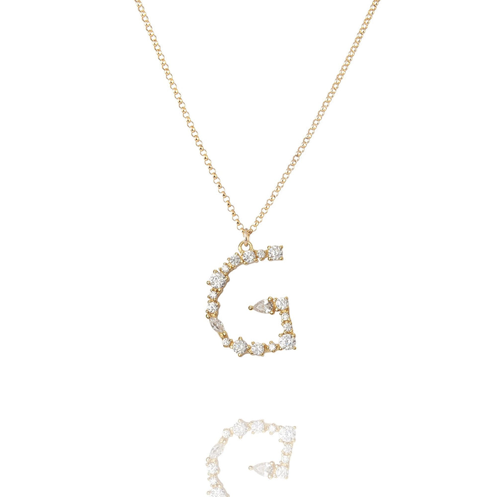 G - Buchstaben Kette - Letter Chain - Gold - SOLD OUT - CLASSYANDFABULOUS JEWELRY