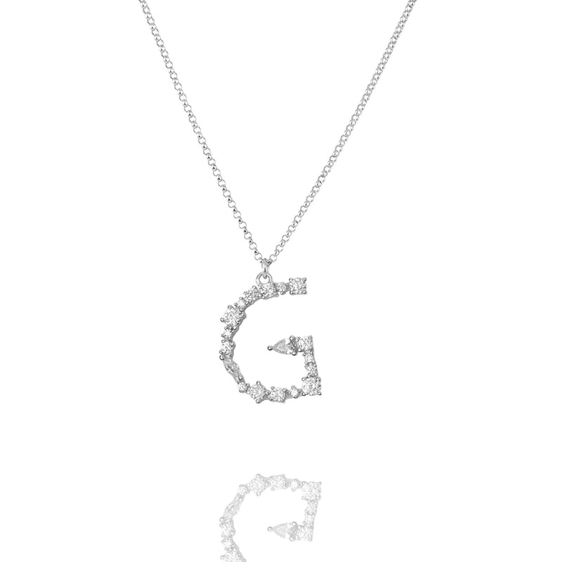 G - Buchstaben Kette - Letter Chain - Silber - SOLD OUT - CLASSYANDFABULOUS JEWELRY