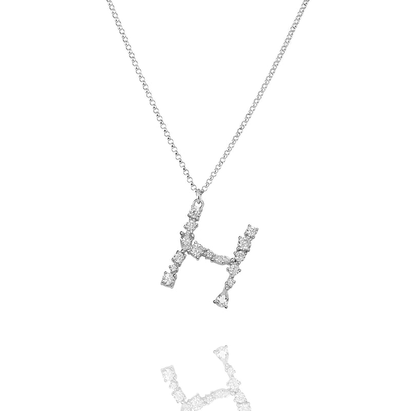 H - Buchstaben Kette - Letter Chain - Silber - CLASSYANDFABULOUS JEWELRY