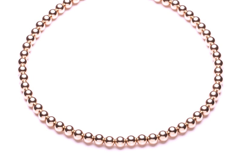 Beaded Necklace  - Kugelkette - 8mm -  Roségold - CLASSYANDFABULOUS JEWELRY