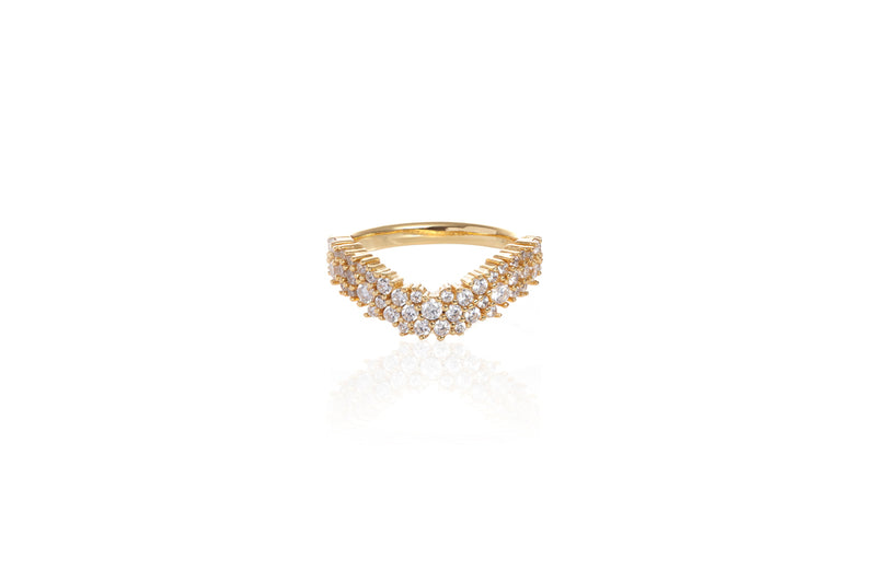 ANAH CHEVRON Ring - Gold