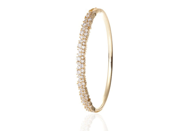 ANAH Luminated Closed Bangle  - Gold - LIMITIERT