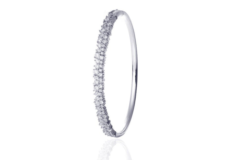 ANAH Luminated Closed Bangle  - Silber - LIMITIERT