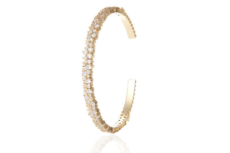 ANAH Luminated Open Bangle  - Gold - LIMITIERT