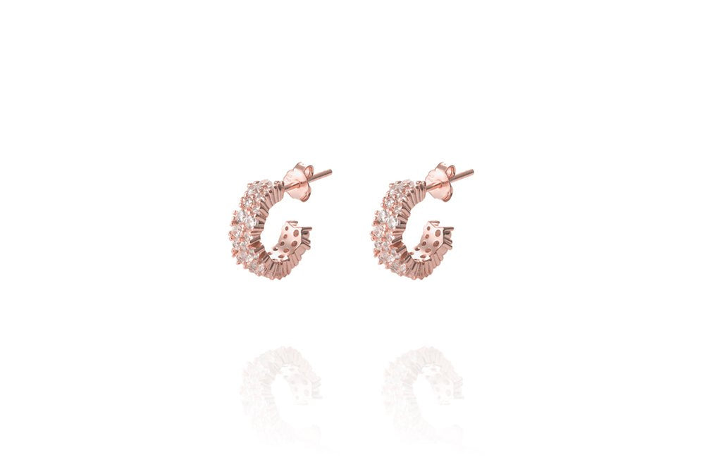 ANAH - DAZZL SMALL HOOPS - Roségold - LIMITIERT