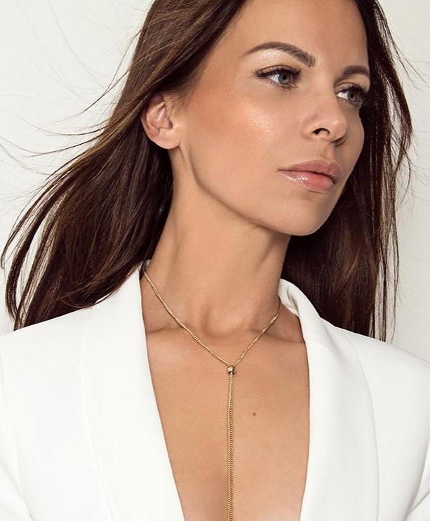 CELIA - The Slim Tie Necklace - Silber - CLASSYANDFABULOUS JEWELRY