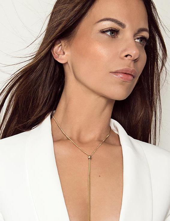 CELIA - The Slim Tie Necklace - Gold - CLASSYANDFABULOUS JEWELRY