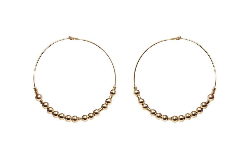 Meaningful Hoops - extravagante Morsecode Creolen - Gold