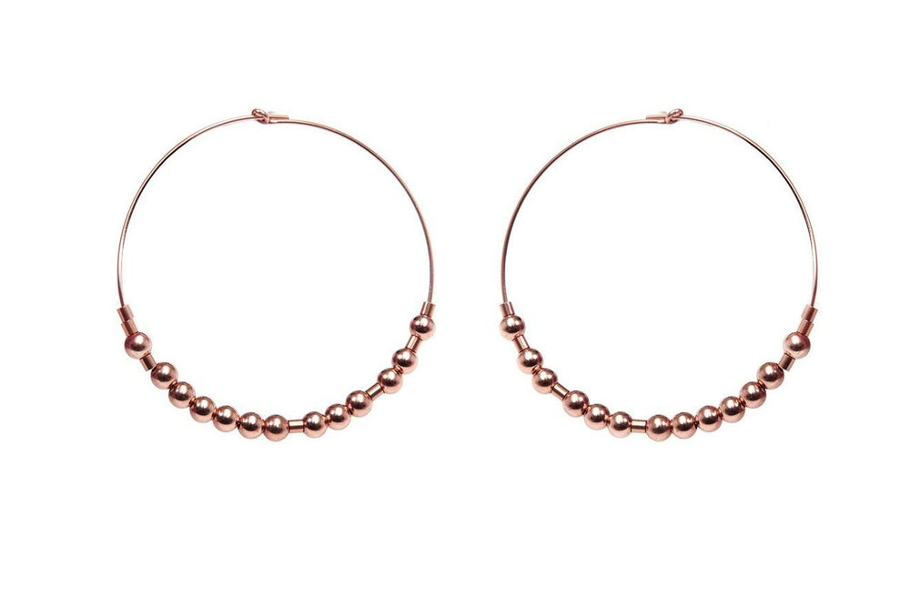 Meaningful Hoops - extravagante Morsecode Creolen - Roségold - CLASSYANDFABULOUS JEWELRY
