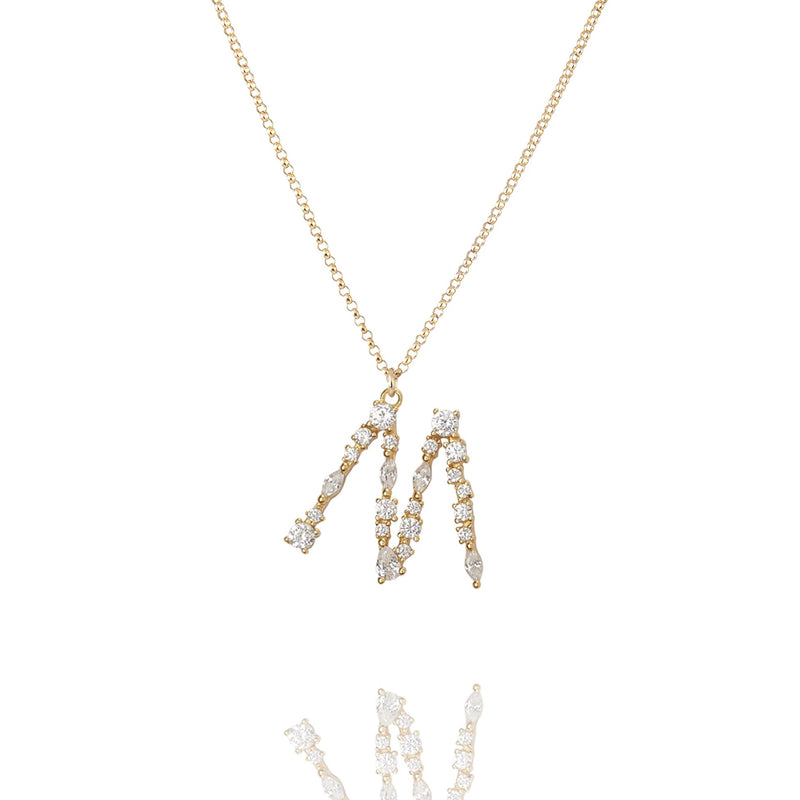M - Buchstaben Kette - Letter Chain - Gold - CLASSYANDFABULOUS JEWELRY